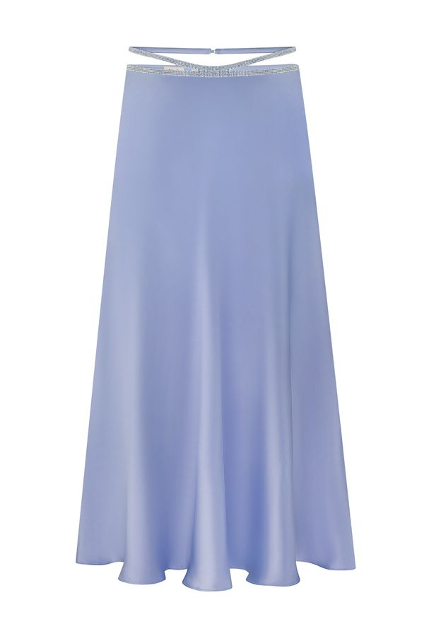 Шелковая юбка миди