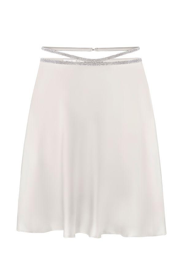 silk skirt mini
