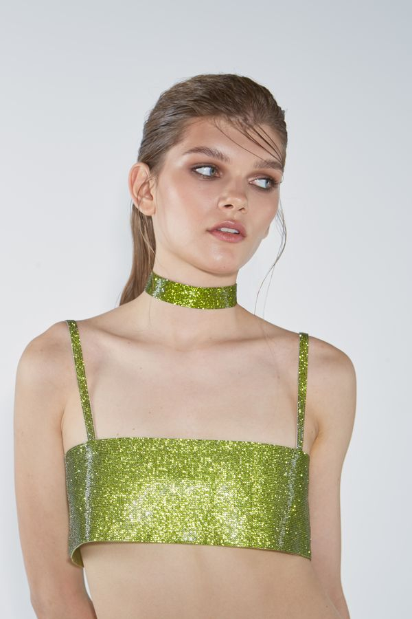 Charlotte Choker Lime Green