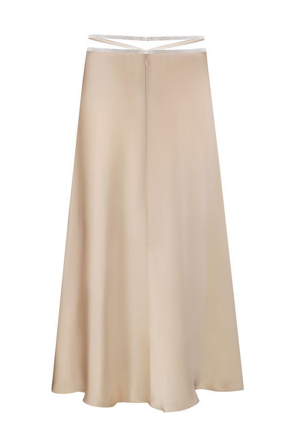 Midi Silk Skirt