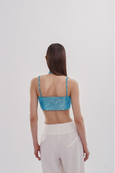 Charlotte Top Aquamarine Blue