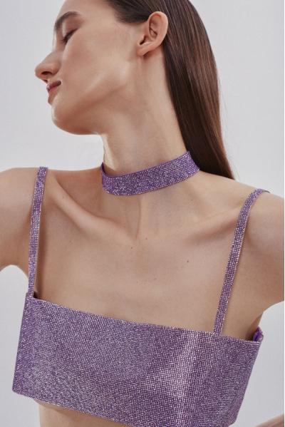 Charlotte Choker Lilac Purple