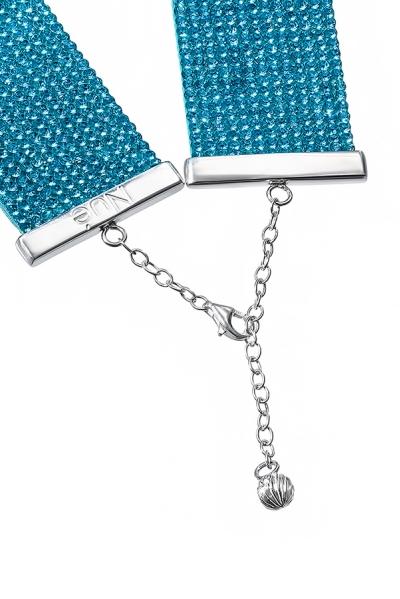 Charlotte Choker Aquamarine Blue
