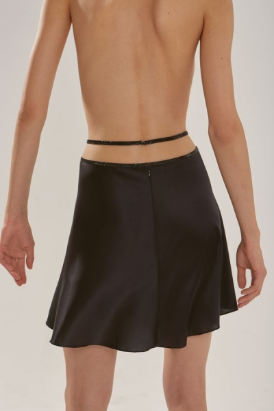 Silk mini skirt